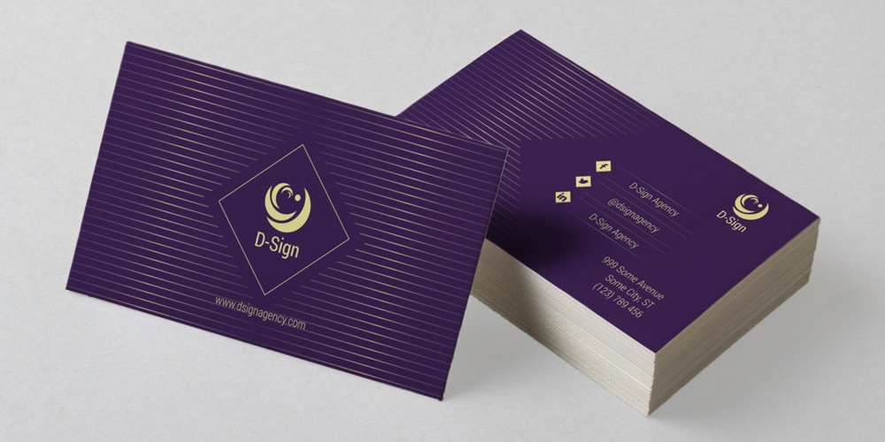 minimalistic and elegant business card template