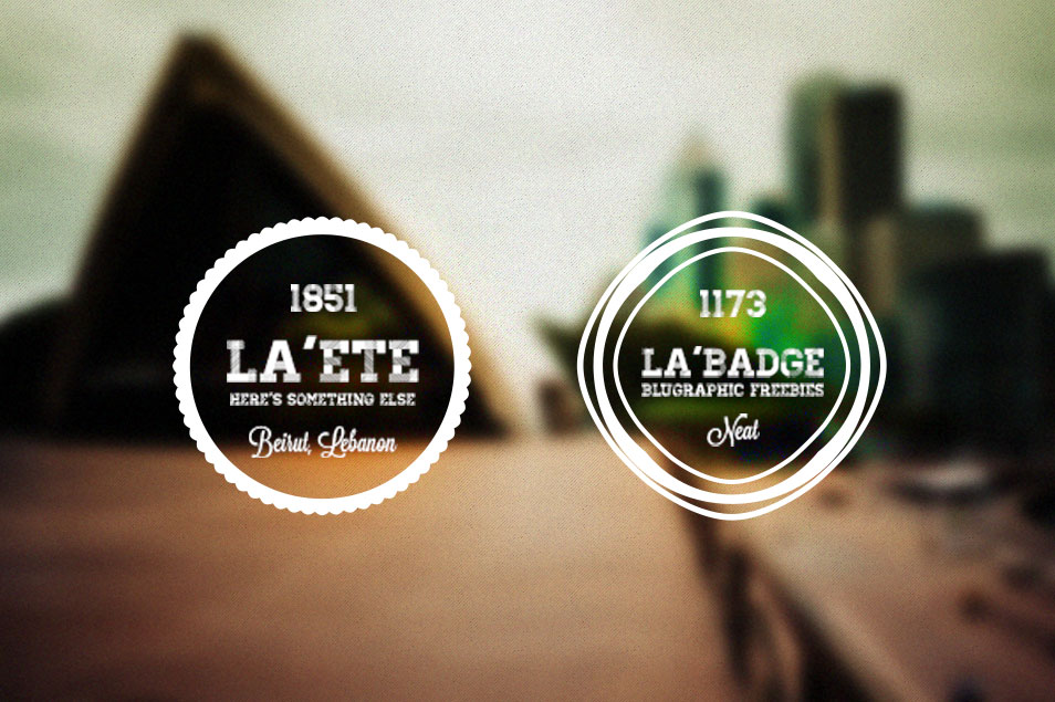 5 Photo Neat Retro Badges (PSD)