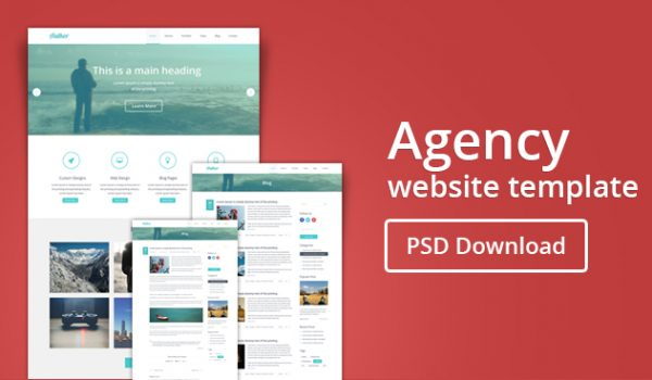 Agency Website Template PSD