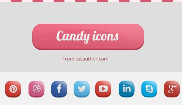 Candy Icons Small Set Of Free Beautiful Social Media