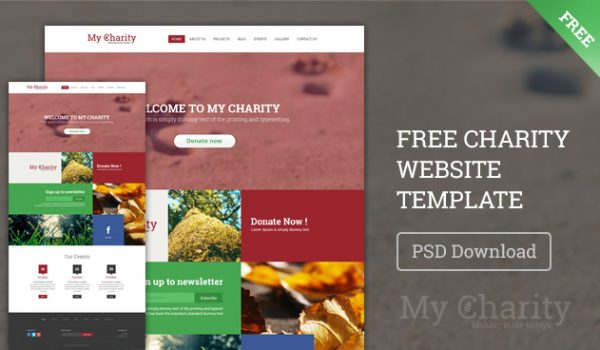 Free Charity Website Template PSD - cssauthor.com