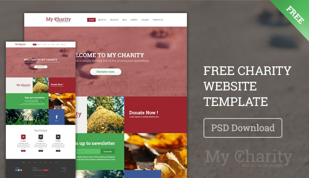 charity website template psd › free web templates » css author, Powerpoint templates