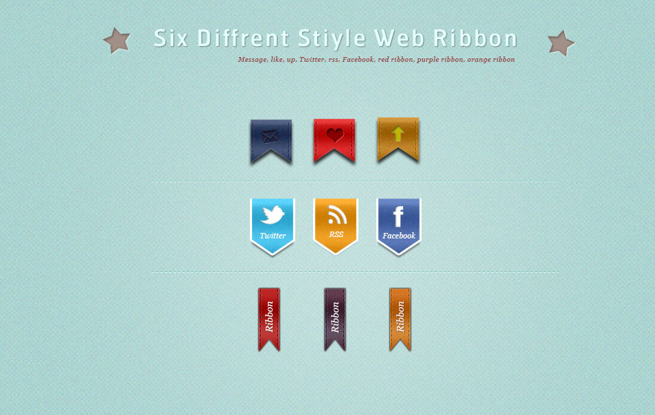 Graphic Stiyle Web Ribbon Psd