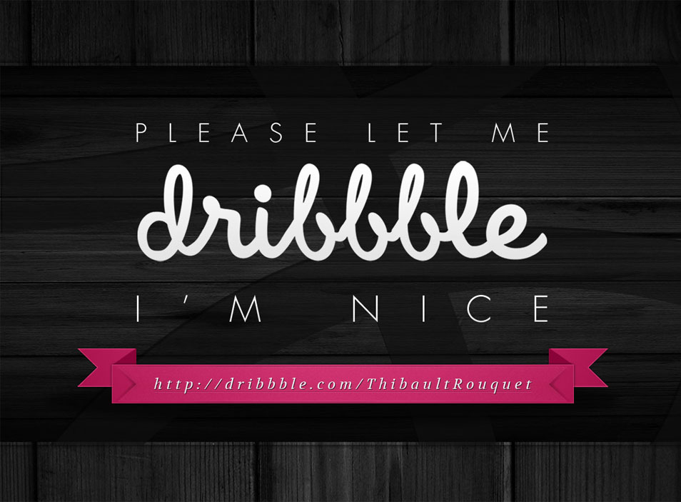Let Me Dribbble Free PSD