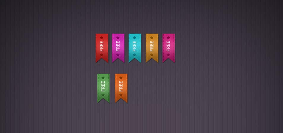 Ribbon - Free PSD