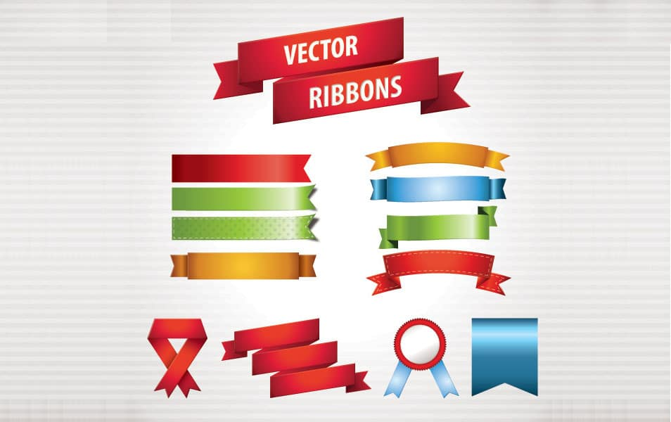 Vector Ribbons Vector Graphic