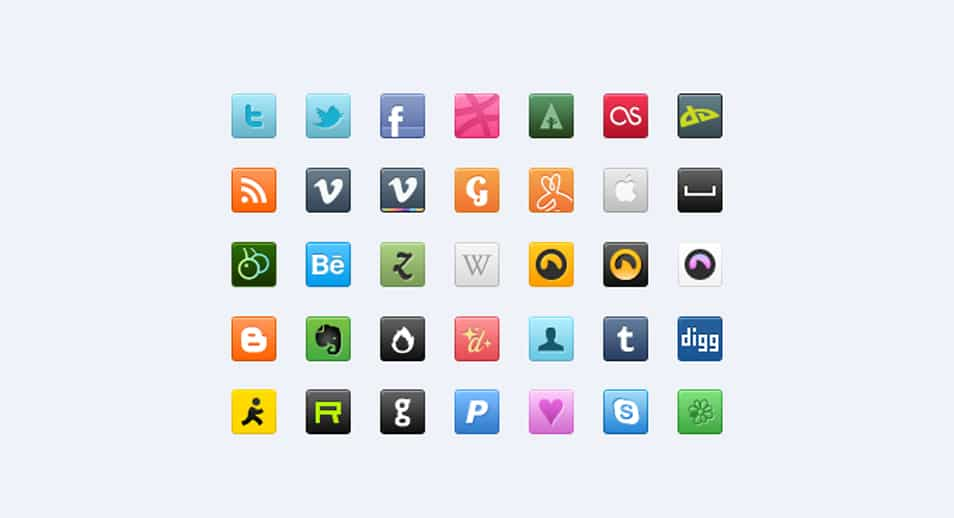 35 Sweet Social Icons