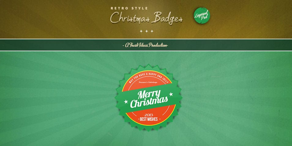 Christmas Badges (psd)