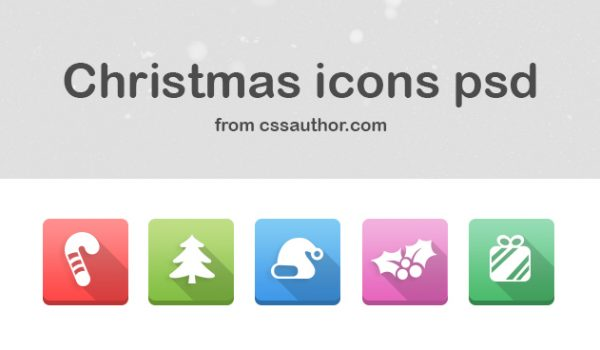 Christmas Icons PSD - cssauthor.com
