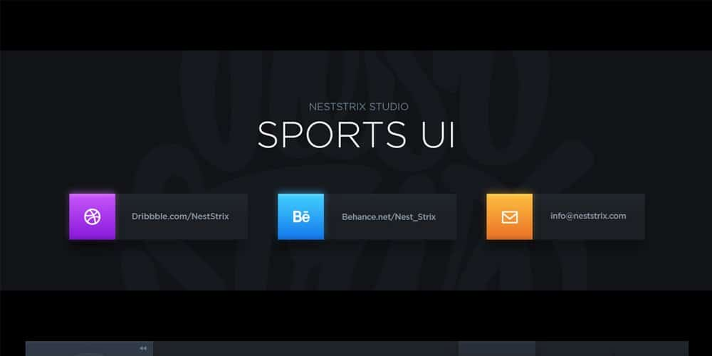 Dark Sports UI Kit PSD