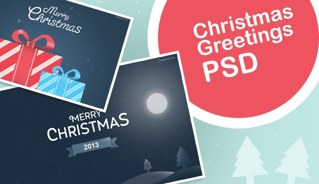 Free christmas greeting cards psd free greetings psd css author for Christmas card psd