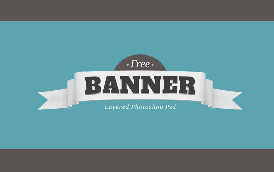 Free Layered PSD Banner-Badge