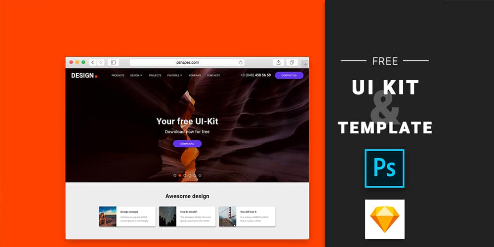 Free UI Kit by Perfect Shapes