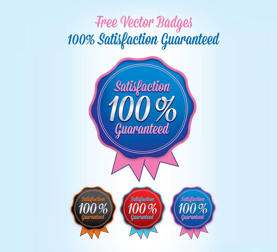 Free Vector Badges (Ai) (100% Satisfaction Guaranteed)