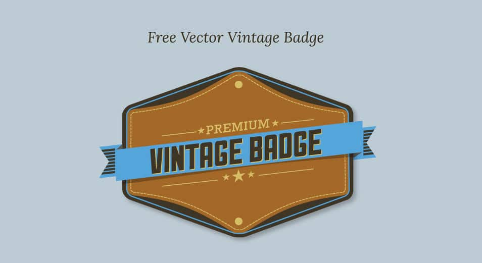 Free Vector Premium Vintage Badge