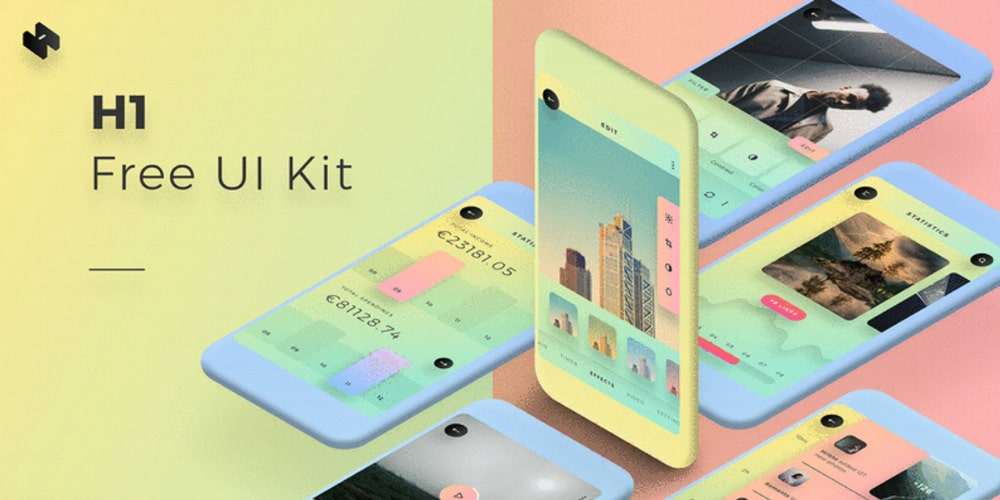 H1 UI Kit for Sketch