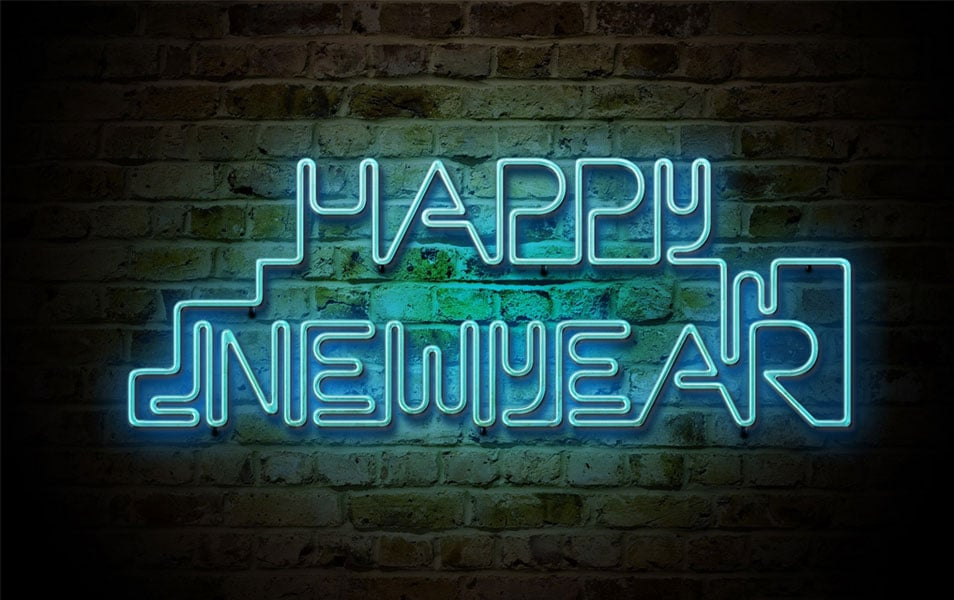Happy New Year Lighting Wallpaper