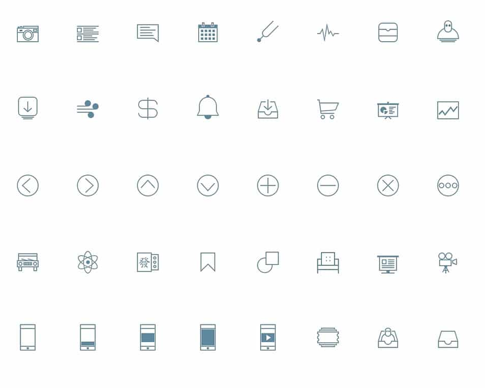 Line ICONSET Free Download