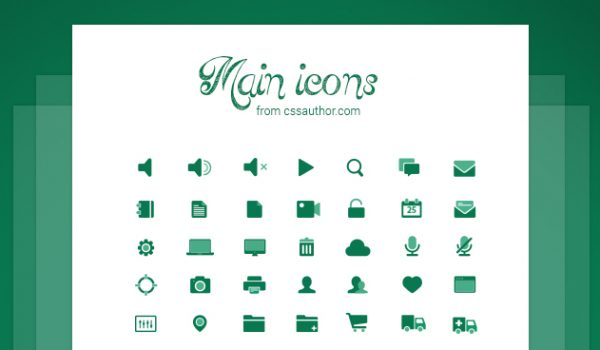 best collection of free icons for user interface designers - css, Powerpoint templates