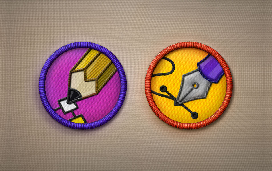 Merit Badge Icons PSD
