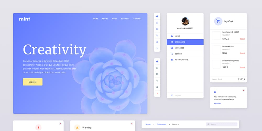 Mint-Free-Sketch-UI-Kit