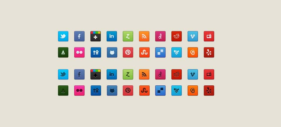 Purty Social Icons