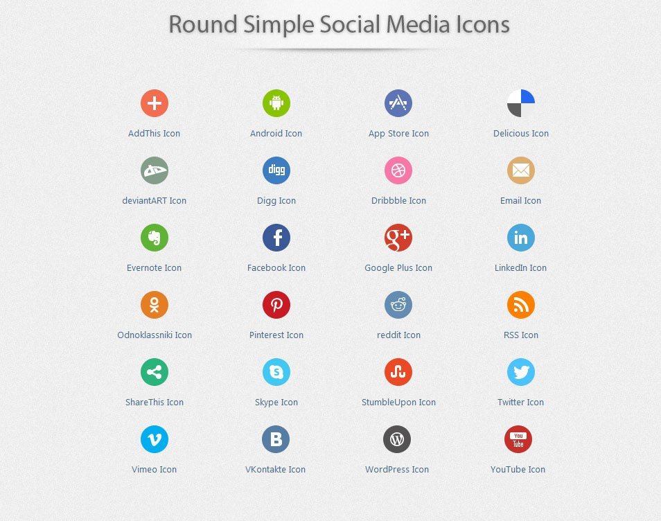 500+ High Quality Free Social Media Icon Sets