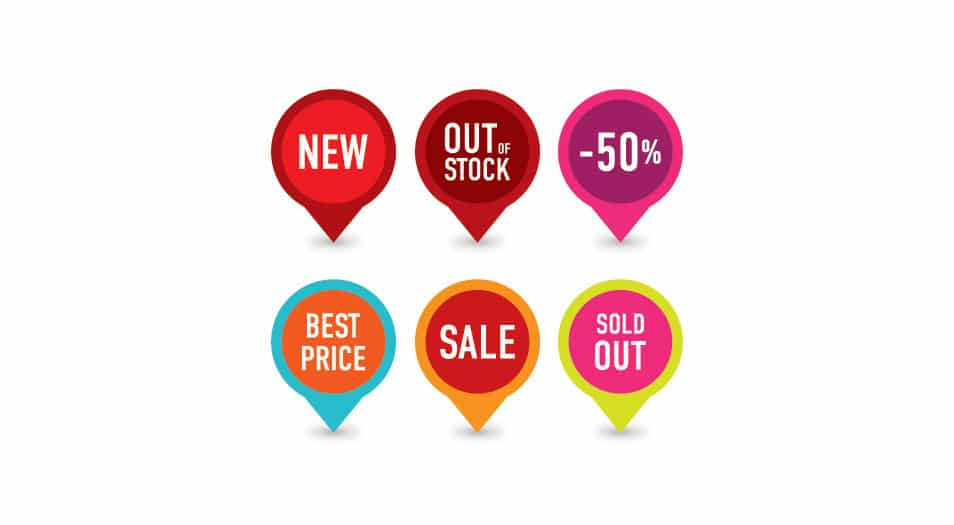Selling Badges Vector Graphic