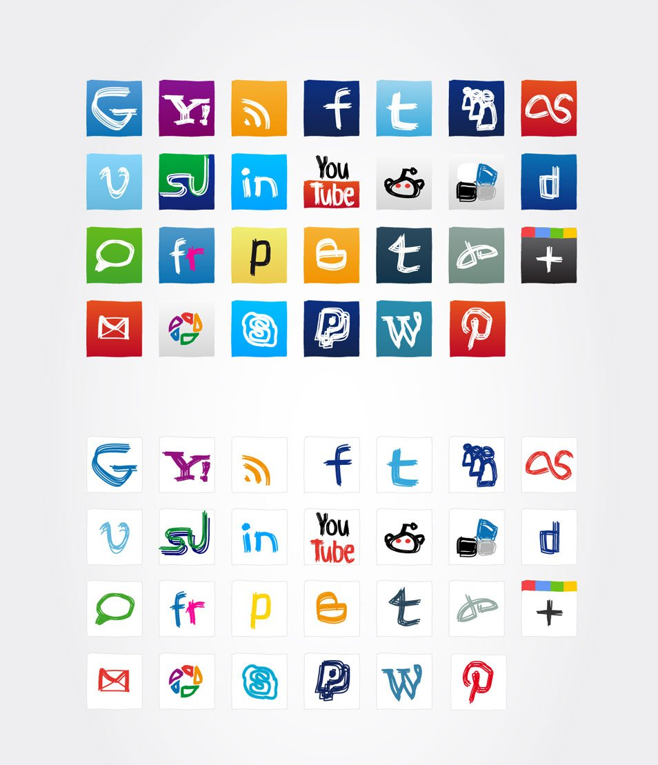 Social media icons 2012 update