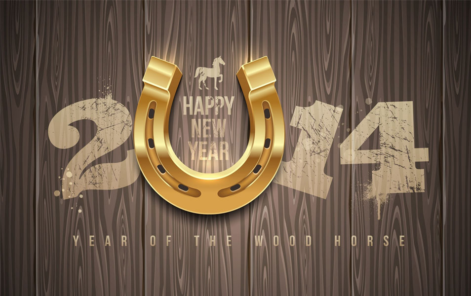 Wood Horse New Year Wallpapers