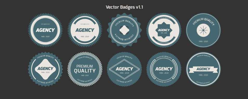Flat Vector Badges — V1.1