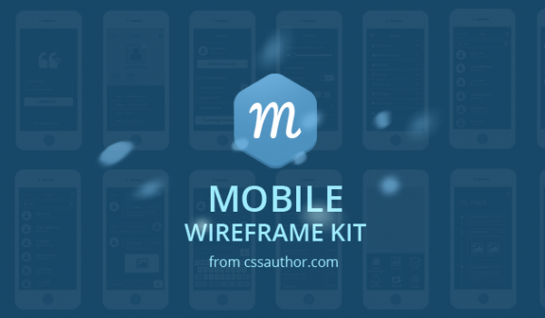 Mobile Wireframe Kit PSD - cssauthor.com