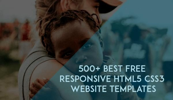 500+ Best Free Responsive HTML5 CSS3 Website Templates