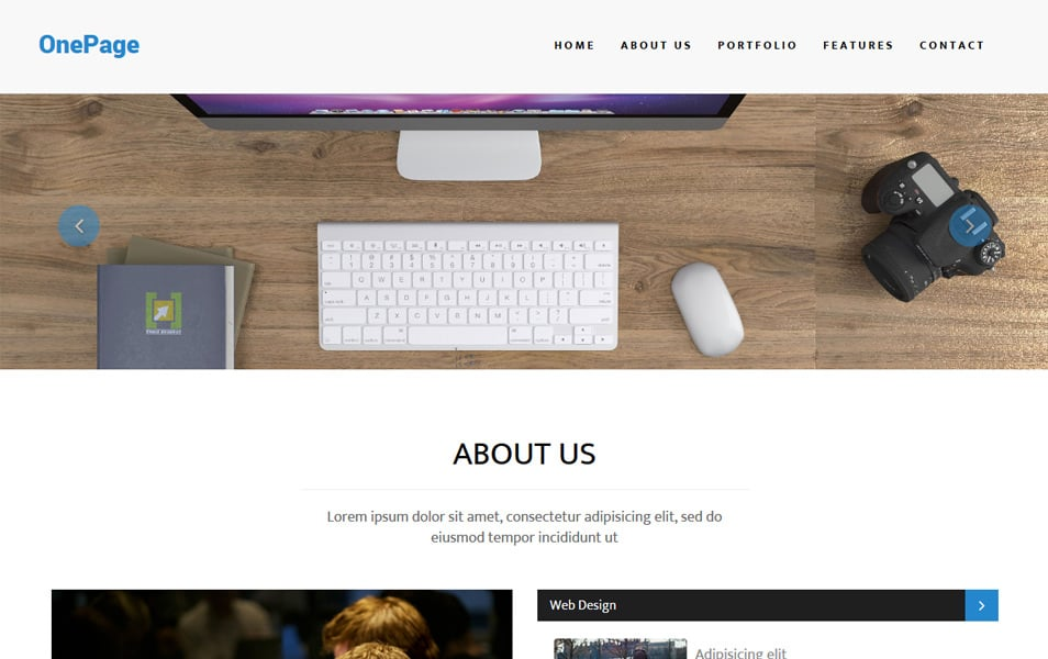 OnePage Multipurpose Bootstrap Template
