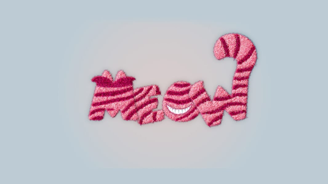 Furry-Cheshire-Cat-Inspired-Text-Effect