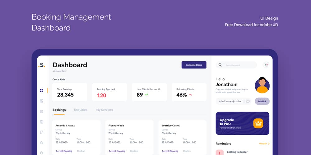Booking Management Dashboard Template