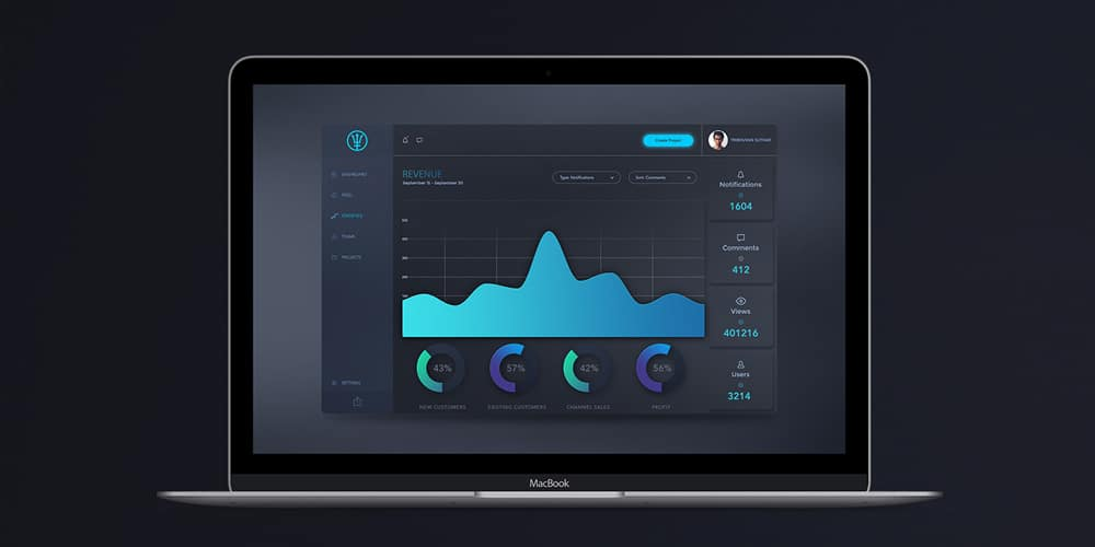 Dark Admin Dashboard
