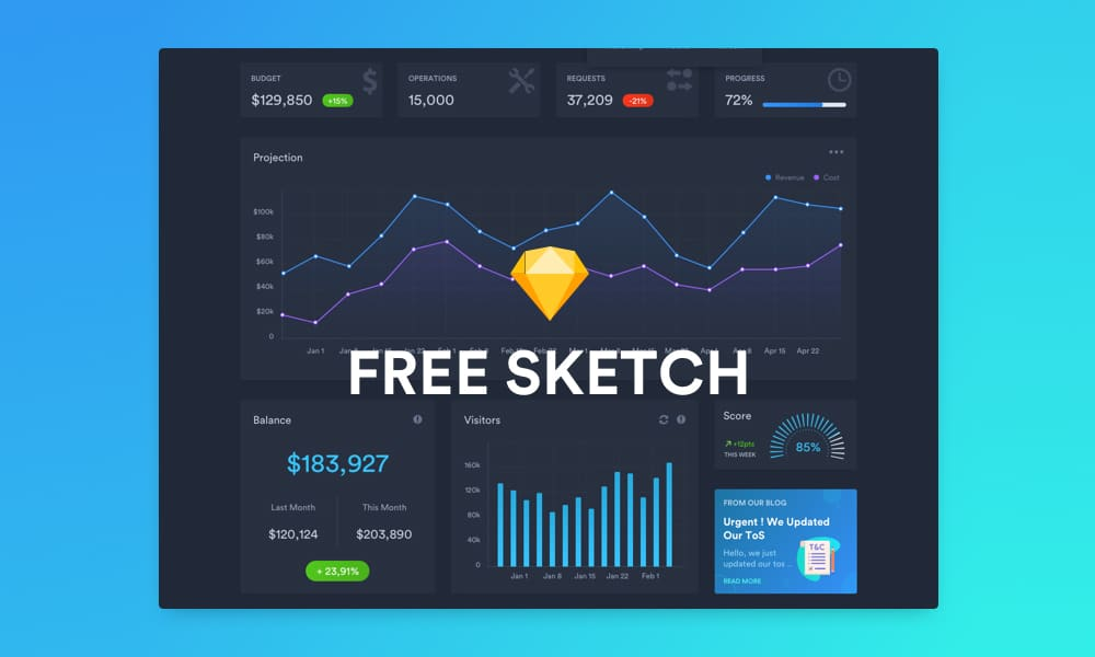 Free Dark Dashboard Template