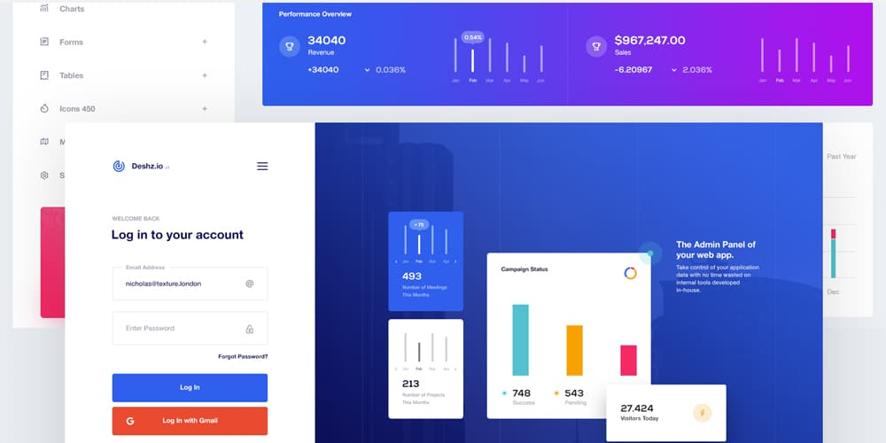 Free Dashboard UI Design PSD- Css Author