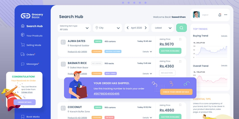 Free Ecommerce Dashboard Template