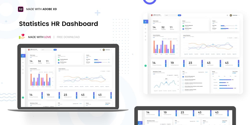HR Statistics Dashboard Template