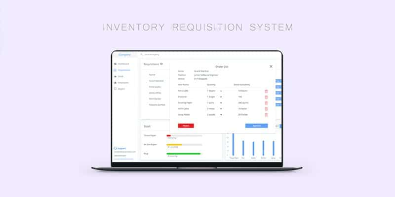 Inventory System Dashboard Template