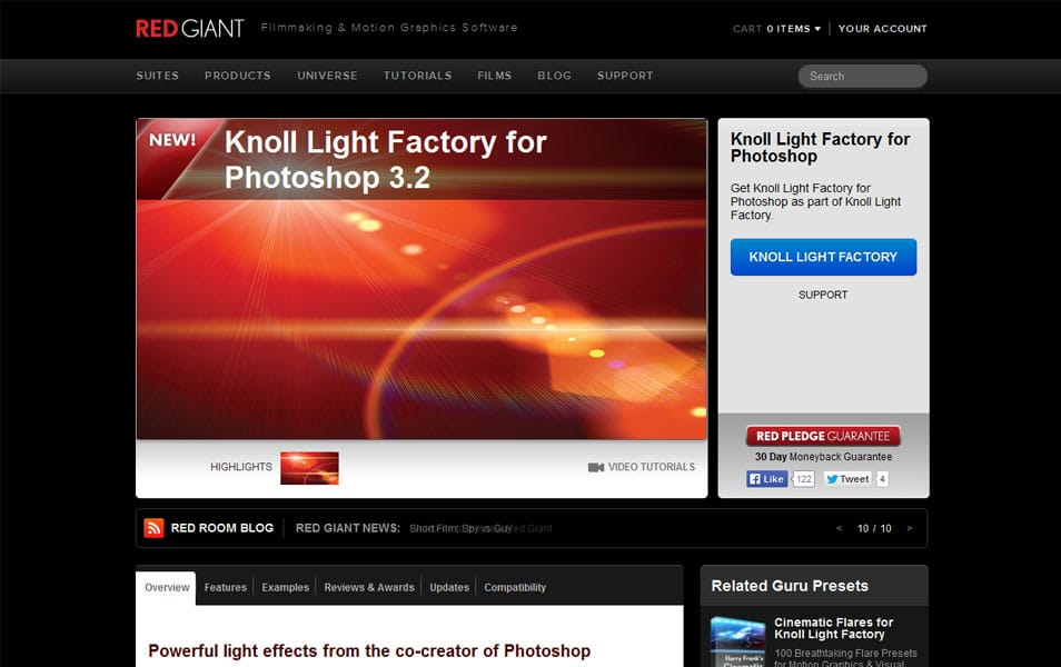 Knoll Light Factory for Photoshop 3.2