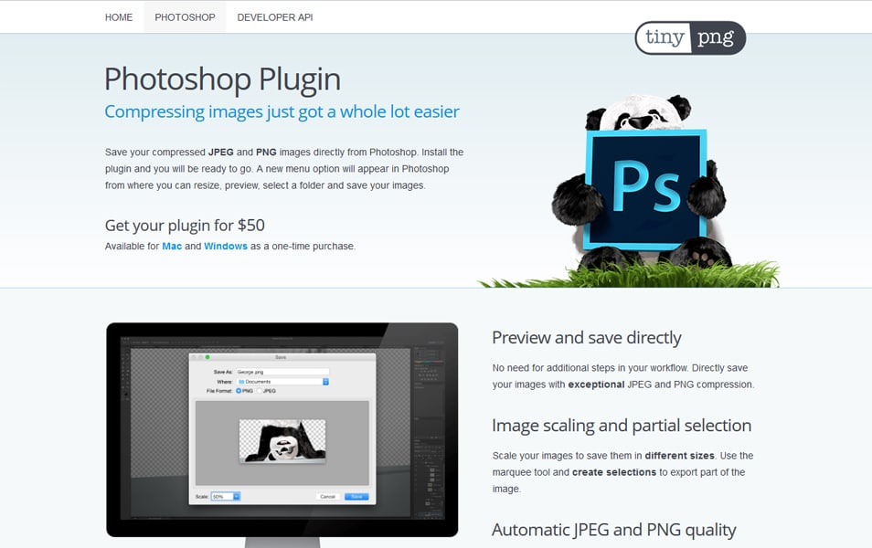 TinyPNG Photoshop Plugin