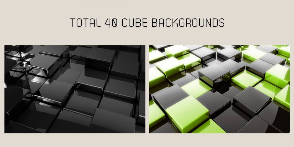 3D Glossy Cube Backgrounds