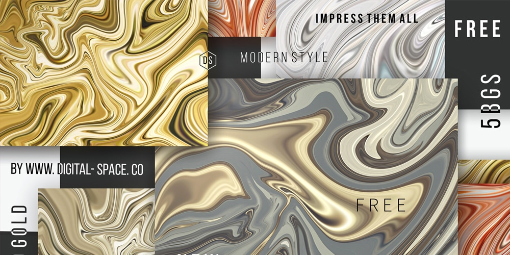 Free Detailed Liquid Gold Backgrounds