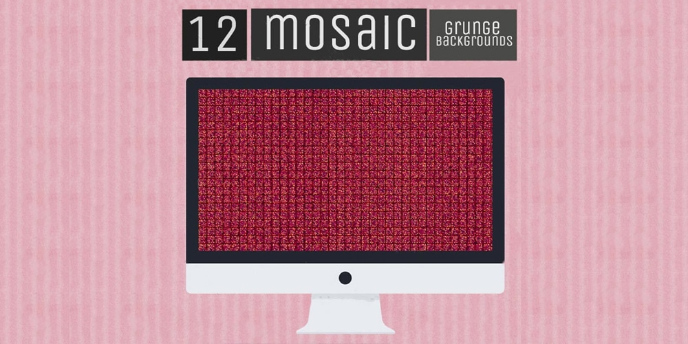 Free Mosaic Grunge Backgrounds