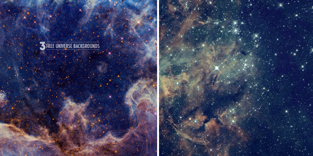 Free Space Universe Backgrounds