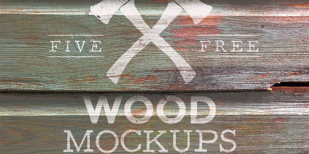 Free Weathered Wood Logo Mock Up Textures