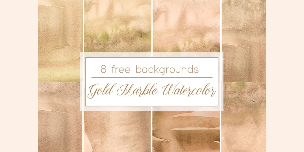 Gold Marble Watercolor Background